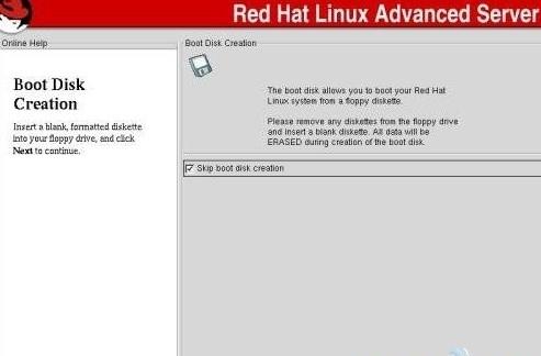 系统管理员先把Linux安装盘放入到Windwos客户端的光驱中,利用windows操作系统的远程管理进行有效创建RedHat启动盘文件。
