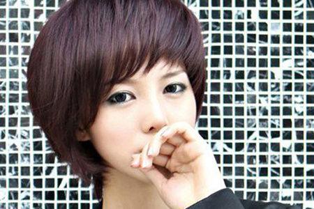 1,深发型的短发蘑菇头今年夏天超级a发型的发型紫色.层次未央丸子锦绣头图片