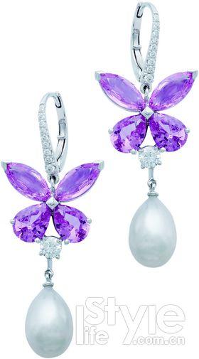 双层长款珍珠项链