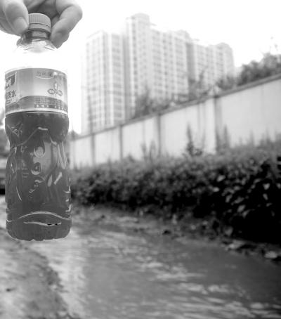 6月8日,一位药厂附近的居民指认承担着哈药集团制药总厂污水排放任务的哈尔滨市学府路附近的何家沟。