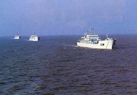 072型大型登陆舰航速较快。