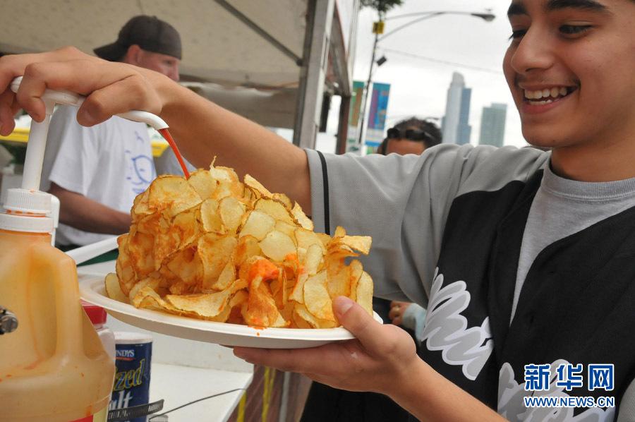 芝加哥举办第31届户外美食节组图 搜狐滚动