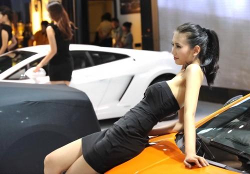 香车美女扮靓昆明泛亚国际汽车展组图