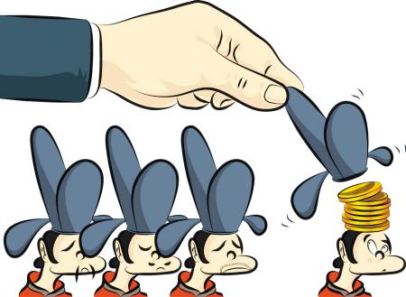漫画:中超签订雷人协议,让人怀疑背后有权力寻租的利益链。 Osports供图