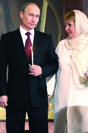 普京的妻子照片 普京的夫人柳德米拉女儿照片