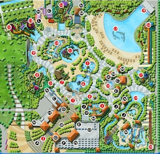 花池子平面手绘图例