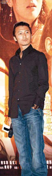 谢霆锋在北京的电影发布会上