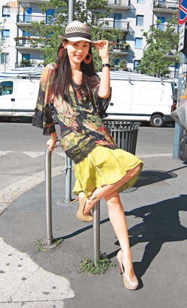 张柏芝在米兰拍摄电视特辑,被赞工作态度专业