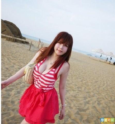 爆乳36e美女大学生海边清凉毕业照写真集