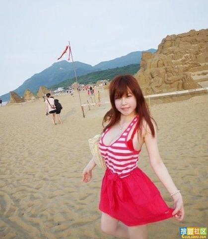 爆乳36e美女大学生海边清凉毕业照写真集组图 搜狐 419