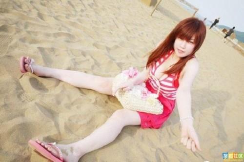 爆乳36e美女大学生海边清凉毕业照写真集组图