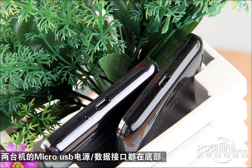 底部Micro usb接口
