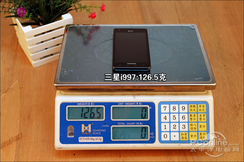 三星i997重量为126.5克