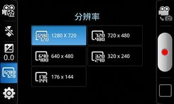 视频菜单与前置摄像头取景