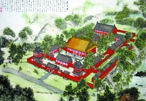史料中记载的正觉寺全景图