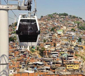 巴西贫民窟开通缆车(图)
