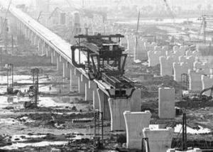 京沪高铁建设工地