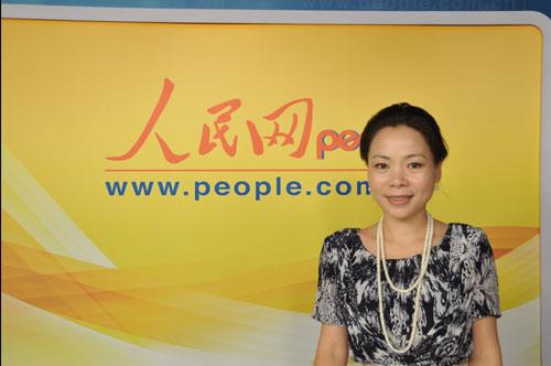 沃尔玛中国高级副总裁王渝佳做客人民网