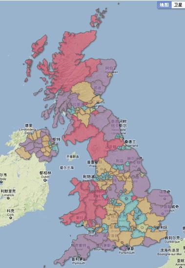 伦敦市区地图中文版