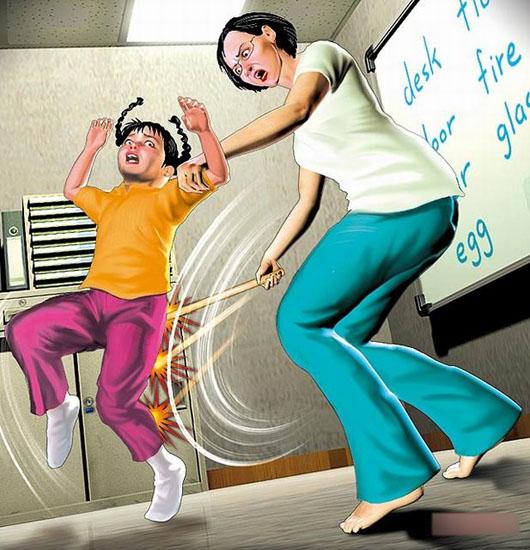 台湾一小学生不会读拼音被女教师持木棍狂打百下