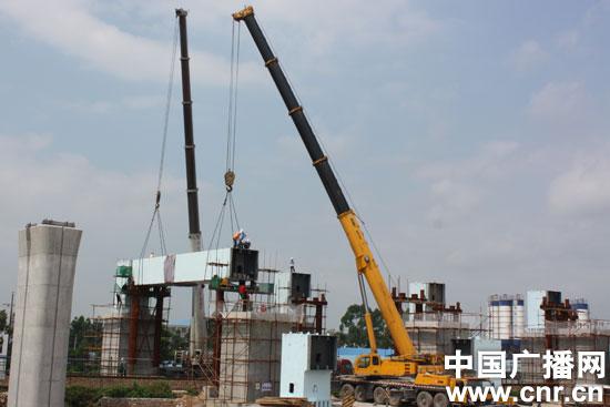 广西高铁第一座门式墩铁路桥钢图纸a一座架设(枕横梁v一座电器aⅢ图片