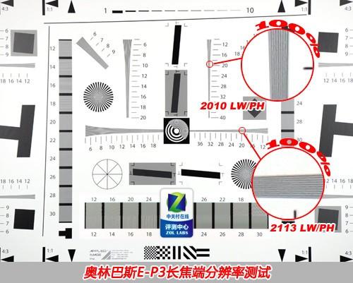 奥林巴斯E-P3 长焦42mm端分辨率
