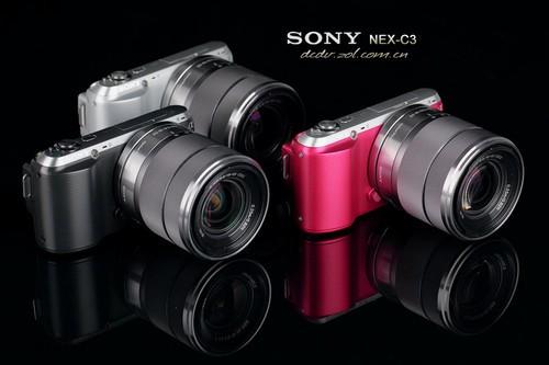 图为:索尼微单NEX-C3