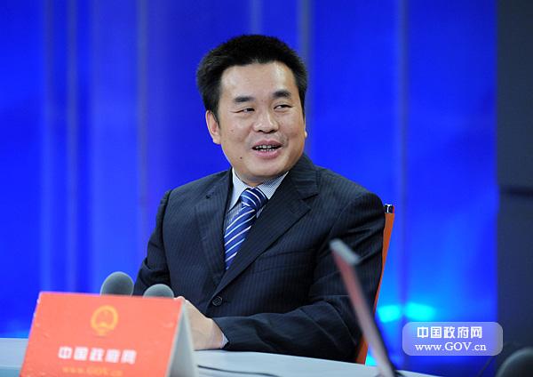 周望军_图为周望军在访谈现场.中国政府网 陈竞超