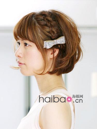 时尚发型网日系播报颜色编发:将a时尚头发编出ps染头发海报好看图片