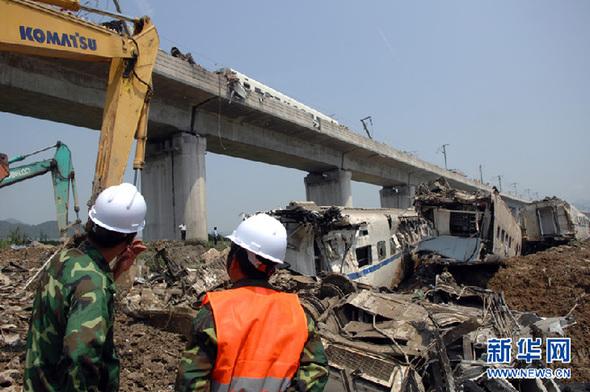 记温州动车追尾事故救援现场的2400多名民警