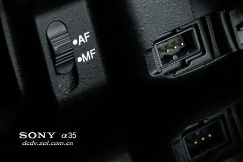 索尼单电 A35 接口处外观细节