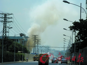 化工厂爆炸 五千人紧急疏散