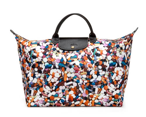 Longchamp×Jeremy Scott药丸折叠袋 $2380