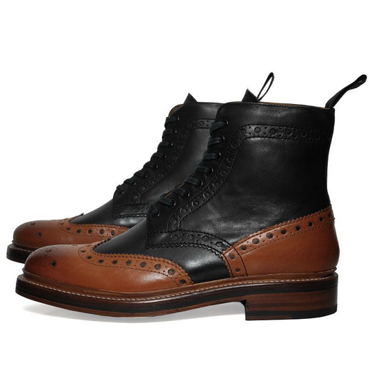 Grenson Fred Boot 高筒雕花皮靴