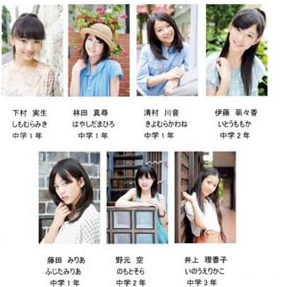 新偶像少女组合7名成员