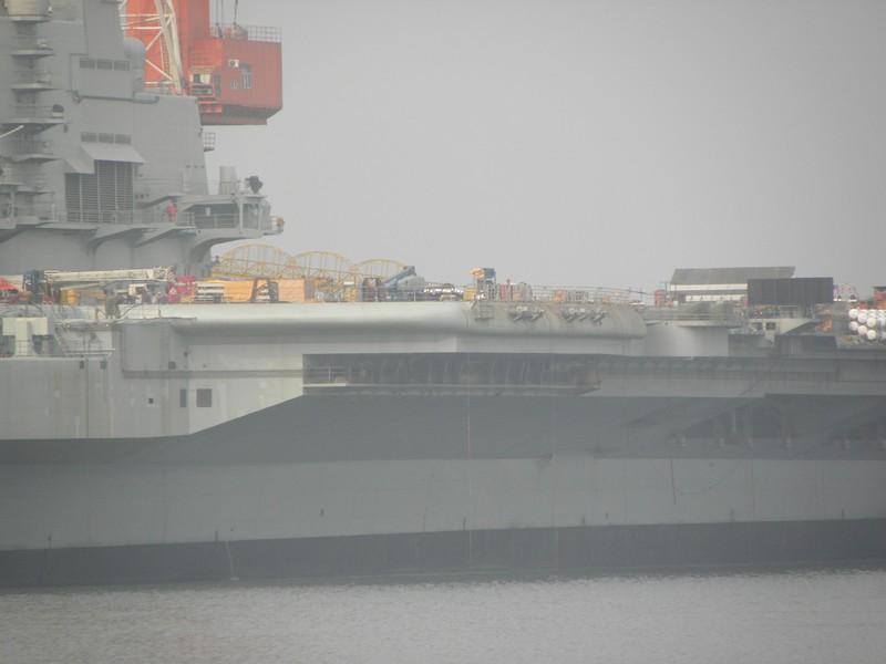 高清 中国第一艘航母拆掉全部施工脚手架 组图高清图片