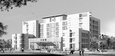 在建二期工程方城县人民医院医技病房大楼效