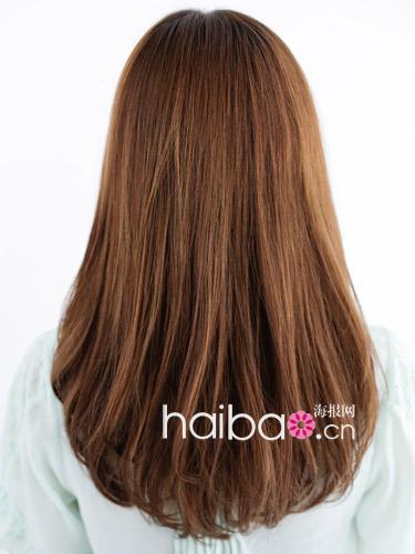 内扣式v线条,和后方整齐厚实的线条发型是这款一次性烫发的那种图片