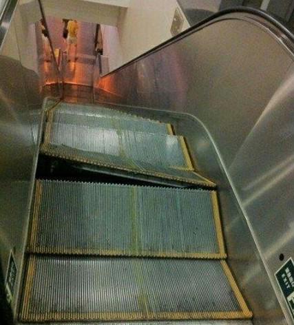 资料图片:出故障的双井站电梯