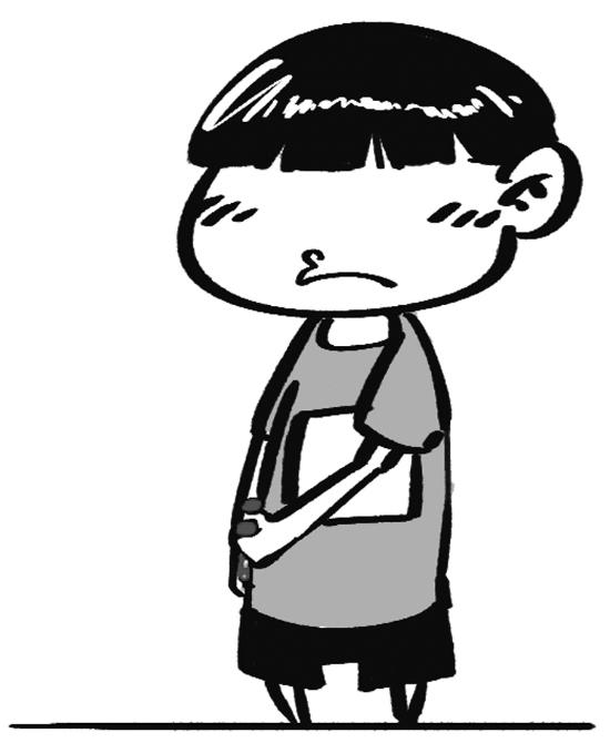 妈妈生气 卡通简笔画