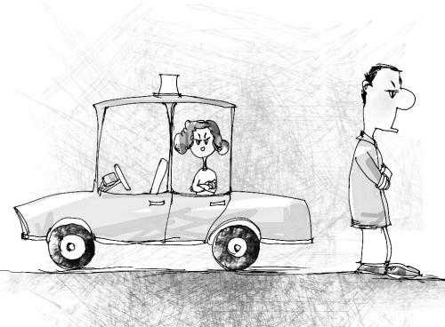 女乘客调戏的哥_的哥一生气,把女乘客\