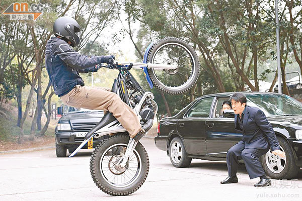 经改装的摩托车,可作高难度动作