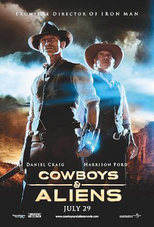 《牛仔与外星人》英文海报