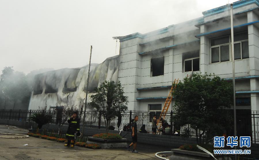 武汉江汉饭店失火