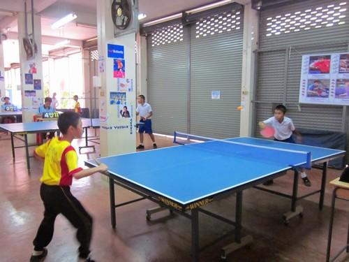 泰国帕府公立中兴学校举办首届校园乒乓球大赛