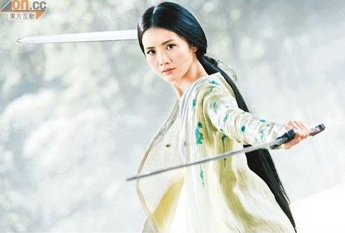 唯美手绘古装女子持剑