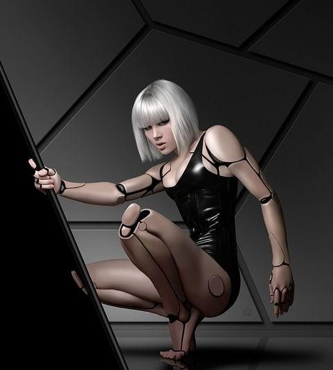 性感到窒息的女机器人组图