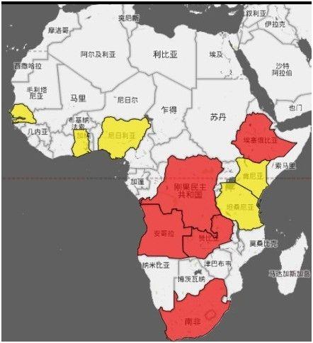 cnn列中国印度在非洲贸易版图[图]