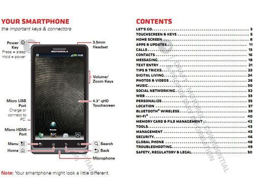 新款摩托罗拉DROID Bionic用户手册
