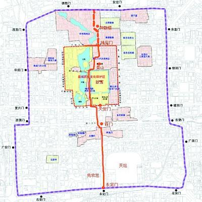天安门广场手绘地图